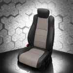 Honda Accord Gray and Black Leather Seat