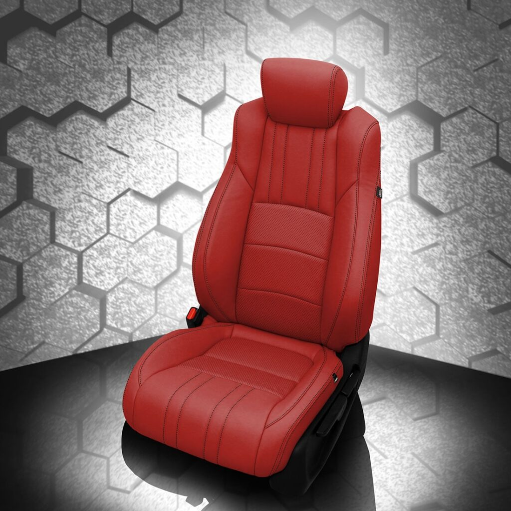 Honda Accord Bright Red Leather Seats
