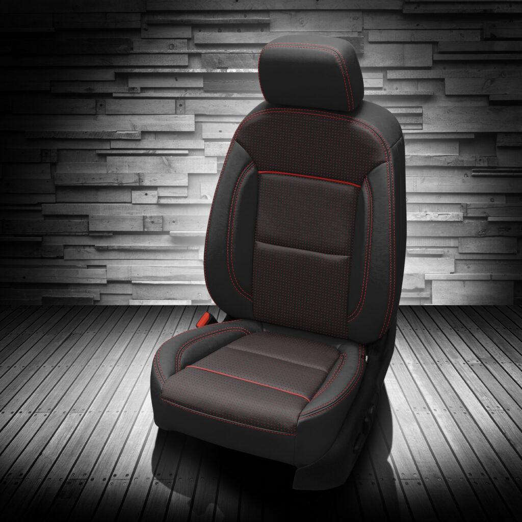 Red Stitching Chevy Blazer Leather Seats