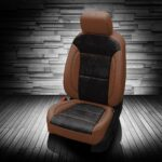 Black and Brown Chevy Blazer Leather Seats