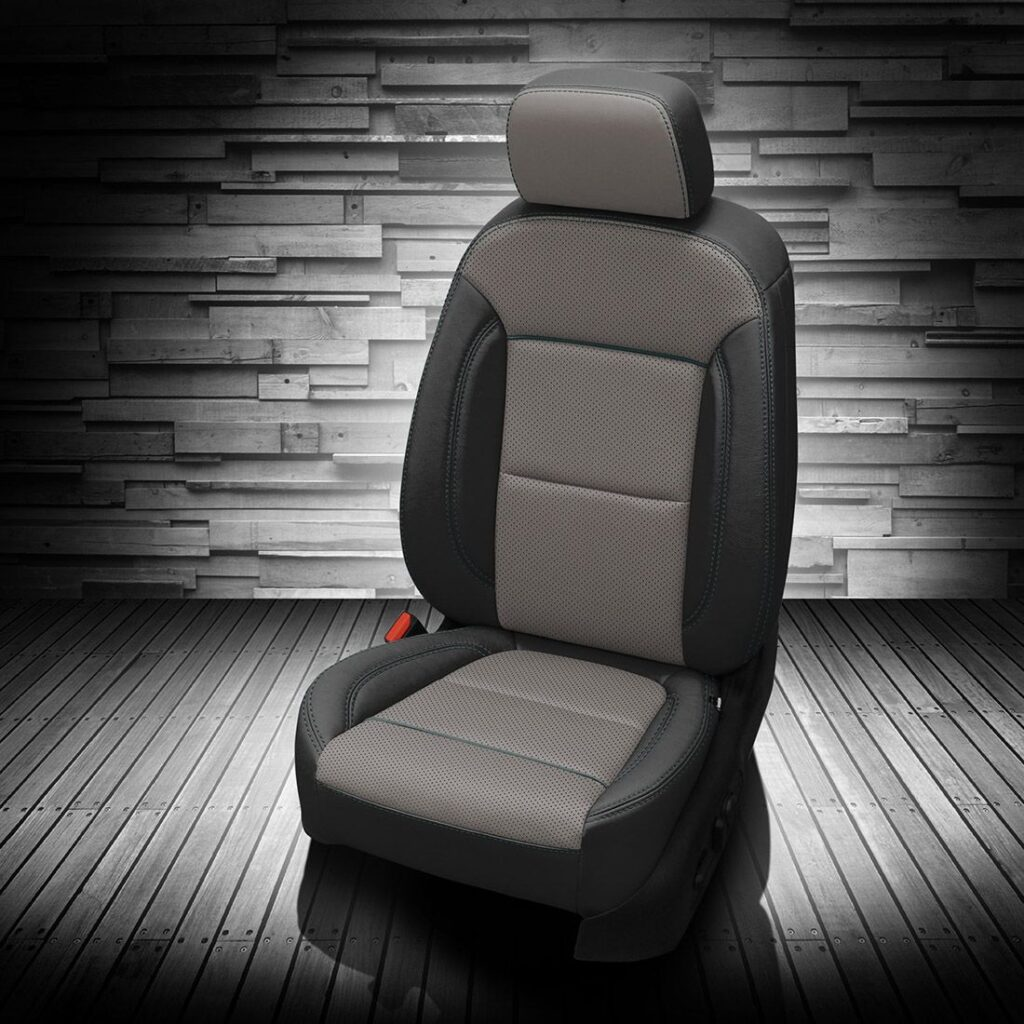 Gray and Black Chevy Blazer Leather Seats