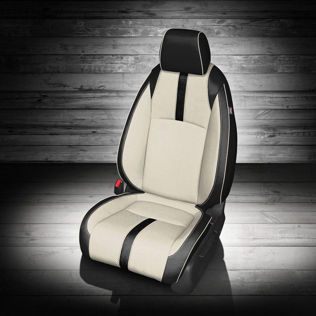 Honda Civic White and Black Leather Interior