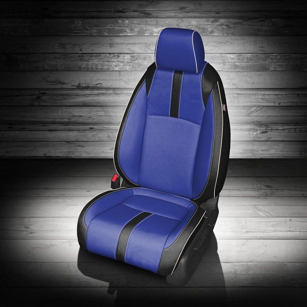 Honda Civic Blue Leather Seats