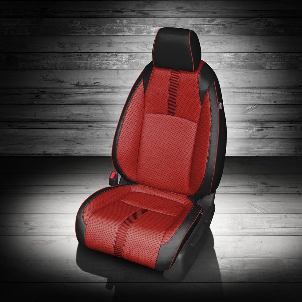 Honda Civic Red and Black Leather Seats