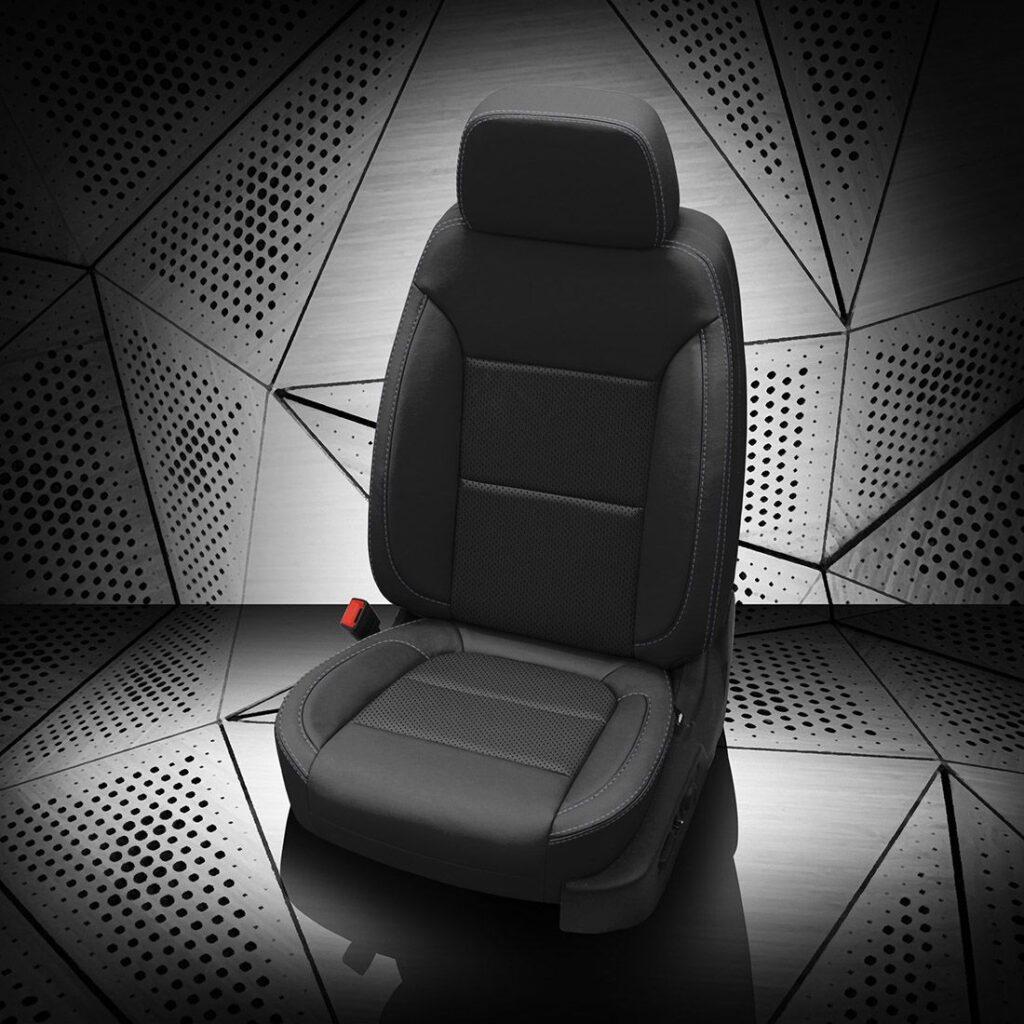 GMC Sierra Black Leather Seats