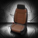 GMC Brown and Black Leather Seats