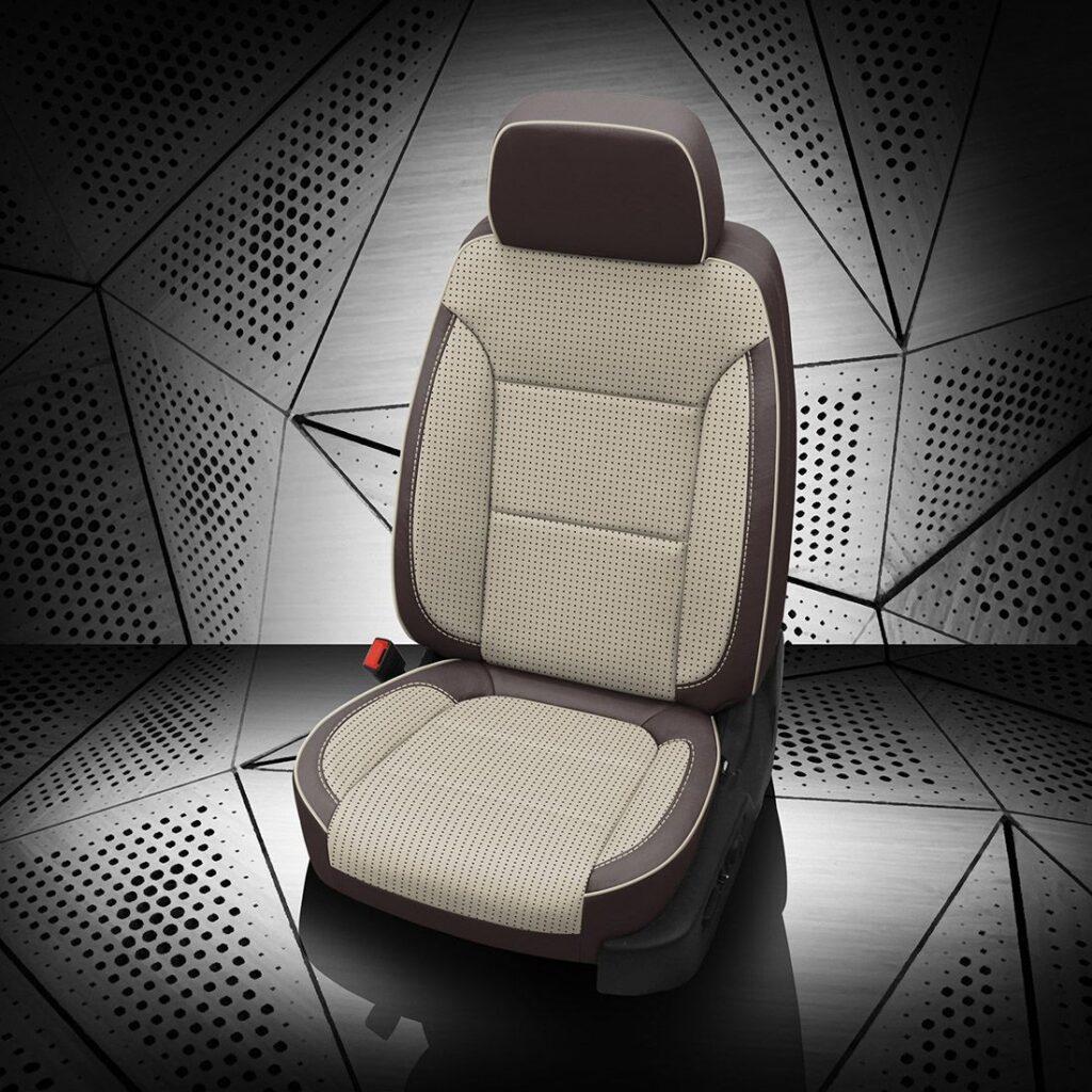 GMC Sierra White Leather Seats
