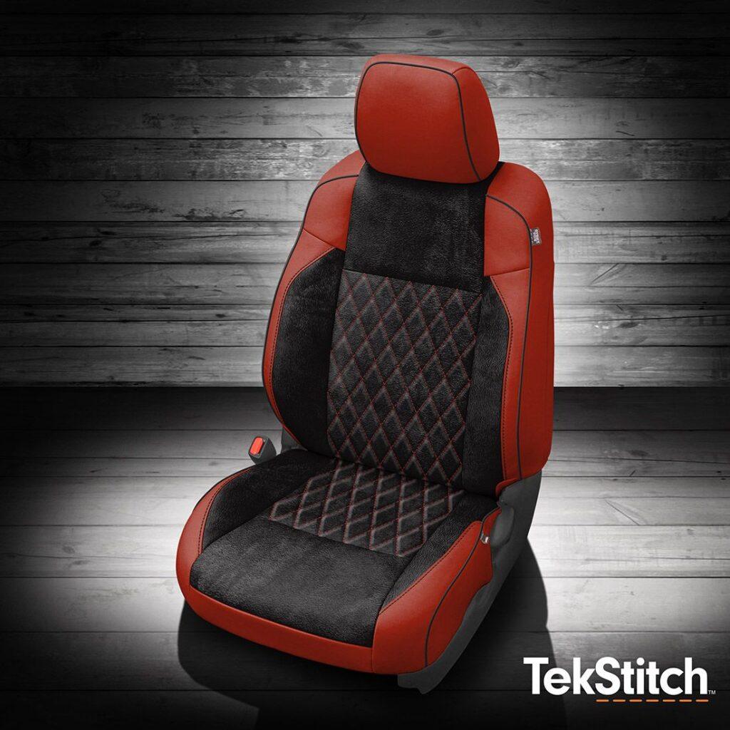 Tacoma Red and Black Tekstitch