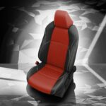 Red and Black Toyota Venza Leather Seats