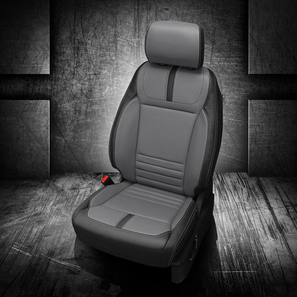 Gray and Black Ford F-150 Leather Seats